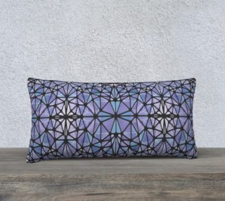 """Purple and Blue Kaleidoscope 24"""" x 12"""" Decorative Pillow Case preview"""