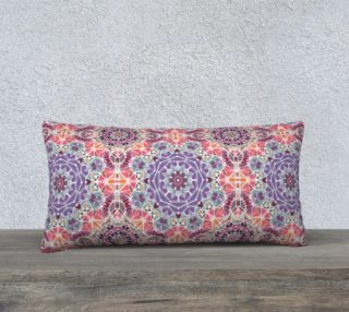 """Purple and Pink Kaleidoscope 24"""" X 12"""" Decorative Pillow Case preview"""