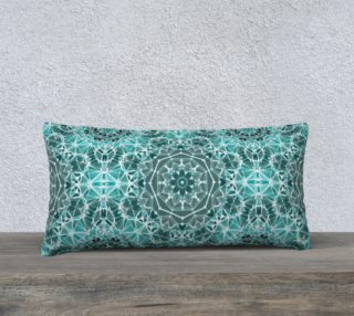 """Turquoise & Gray Kaleidoscope 24"""" x 12"""" Decorative Pillow Case preview"""