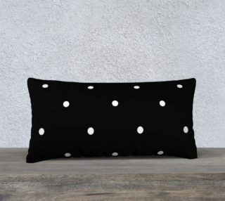 White polka dots on black preview