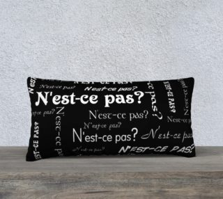 White N'est-ce Pas Pillow Case Style2 preview