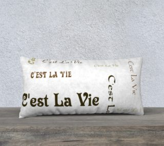C'est la Vie Pillow Case Style2 preview