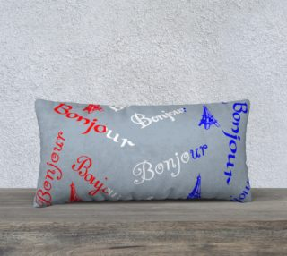 French Flag Bonjour Pillow Case Style2 preview