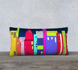 """Space City Pillow 24"""" x 12"""" preview"""
