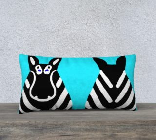 "Zebra Both Ends Pillow 24"" x 12"" preview"