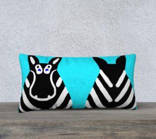 "Zebra Both Ends Pillow 24"" x 12"" preview"