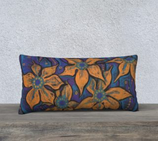 """Golden flowers"", decorative painting, pastel, floral art preview"