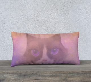 "Cosmic Cat Pillow 24"" x 12"" preview"