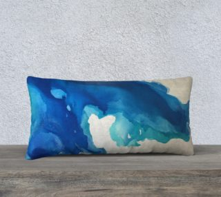 Breathe Into Blue Long Pillow preview
