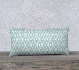 Mint and White Trellis Art Deco preview
