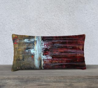"Aperçu de Gold and Red Pillow - 24x12"""