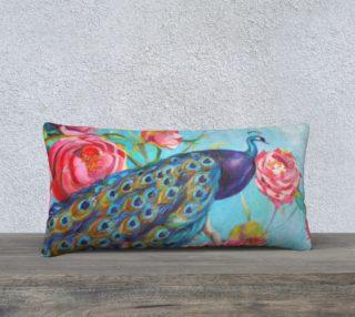 Peacock Floral Fantasy 24 x 12 Pillow preview