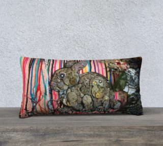 Aperçu de Clockwork Bunny 24 X 12 Pillow Case
