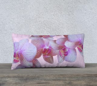 Pink Orchids Pillow 24in by 12in aperçu