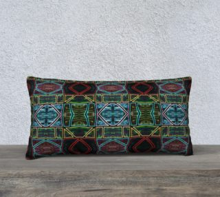 Diamond Sarape Stained Glass Pillow 24in by 12in  aperçu