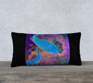 Midnight Koi 24 x 21 Pillow preview
