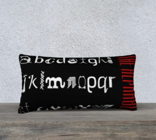 Aperçu de The Alphabet Typography Red White Black Pillow