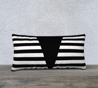 Aperçu de White Black Stripes Big Triangle pillow 24x12