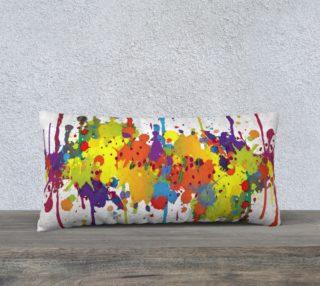 Aperçu de CRAZY multicolored double RUNNING SPLASHES pillow 24x12