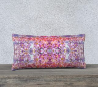 Kaleidoscopic Cosmos Pressed Flower Pillow preview