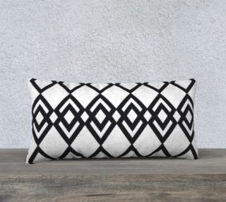 "Black Lines - Pillow 24""12"" preview"