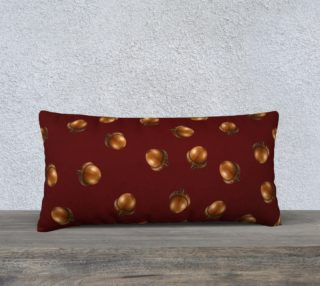 Acorns Pattern-Maroon Pillow Case preview
