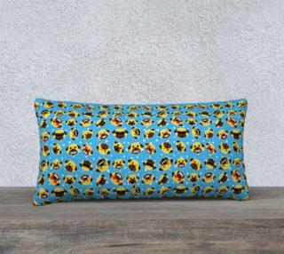 """Aperçu de Pug Emoji Emoticon 24"""" x 12"""" Pillow"""