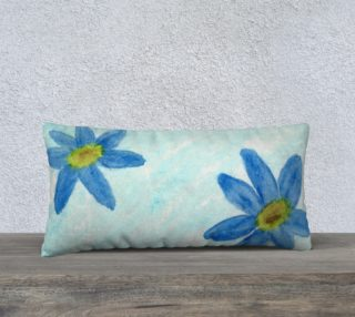 Simply Blue Flowers Pillow Case Style2 preview