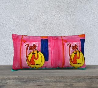 Midcentury Modern Cat pillow by Richard Cortez preview