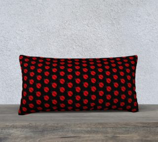 Ladybugs Pattern-Black Pillow Case preview