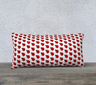 Ladybugs Pattern-White Pillow Case preview