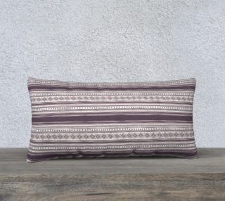 Lilac Pattern Pillow Case 24 x 12 aperçu