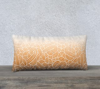 Ombre orange and white swirls doodles 24 x 12 Pillow Case aperçu