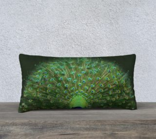 Peacock Wheel 24'' x 12'' Pillow preview