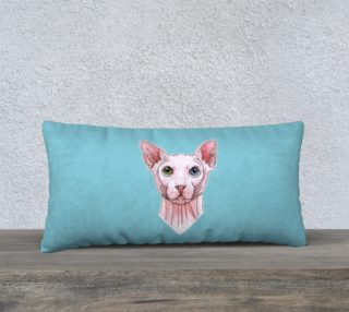 Sphynx cat portrait 24 x 12 Pillow Case preview