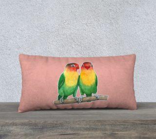 Fischer's lovebirds 24 x 12 Pillow Case preview