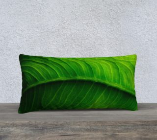 Green Elephant Ear Leaf Pillow preview