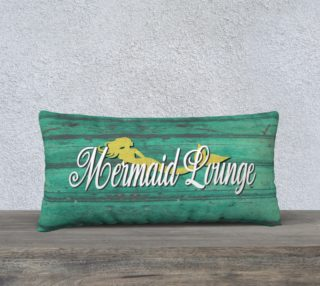 Green & Gold Mermaid Lounge Distressed Pillow Cover preview