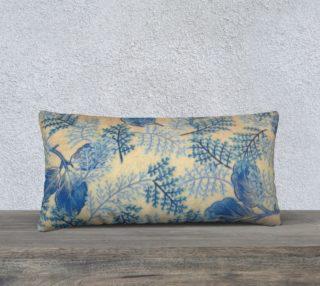 1950s Blue Ferns 24 x 12 Pillow Case preview
