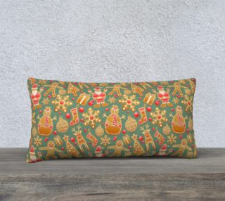 1950 Vintage Gingerbread Christmas 24x12 Pillow Case preview