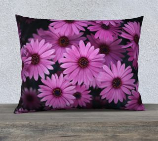 Pericallis Purple Flower Pillow Case 26x20 aperçu
