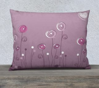 Purple Abstract Flowers Pillow Case 26x20 preview