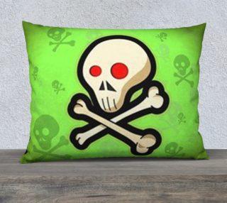 Cartoon Skull On Green 26 x20 Pillow Case preview
