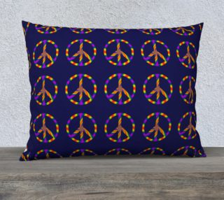 Rainbow Peace Sign 26x20 Pillow Case preview