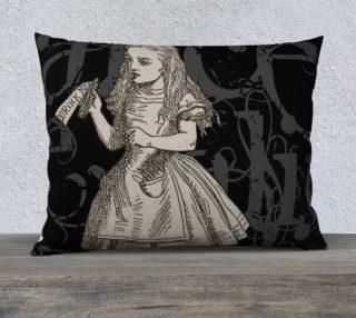 Alice In Wonderland Grunge Alice Pillow (26x20) preview