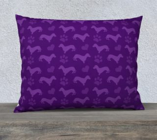 Purple dachshunds hearts paws preview
