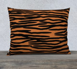 Tiger Skin Pattern Large Pillow aperçu