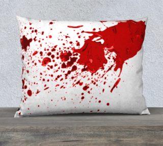 Blood Splatter First Cosplay Halloween Pillow Case 26 x 20 preview