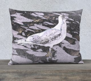 26X20 Color Muse  South Seagull Art Deco Pillow   preview