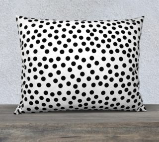 Black Polka Dots Large Pillow aperçu